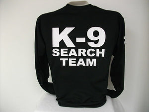 Search And Rescue L/S K9 T-Shirt, Search Team,,,,bk,,3X