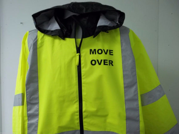 Reflective Move Over Towing Tow Truck Driver Raincoat, Size Large
