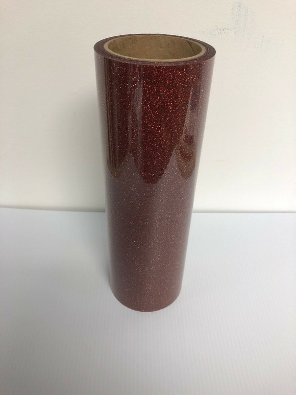 Bronze Color, Glitter Flake HTV T-Shirt Iron On Heat Transfer Vinyl Sheets
