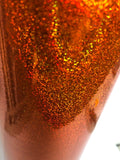 "Holographic Orange Glitter Adhesive Vinyl-Craft, Hobby, Cutters, 2 Pack, 12""x12"""