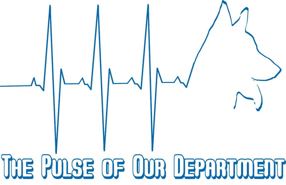 Blue Line K-9 Unit Logo Life Heart Beat Blue Pulse of Police Department T-Shirt