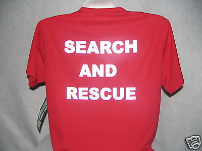 Search And Rescue Wicking T-Shirt, Reflective SAR,  XXL