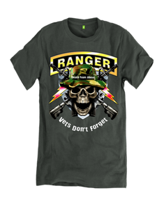 Vets Don't Forget, Death From Above Ranger T-Shirt, Choice of Shirt Color
