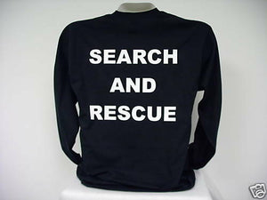 Search And Rescue L/S T-Shirt, SAR L/S T-Shirt,  bk  3X