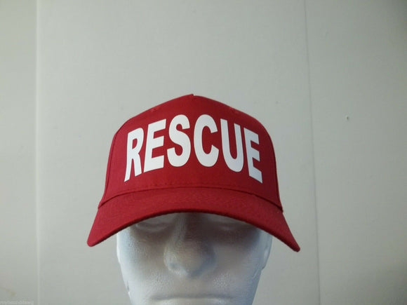 Rescue 5-Panel Hat, Choose Your Color and Print Color, Free Shipping USA