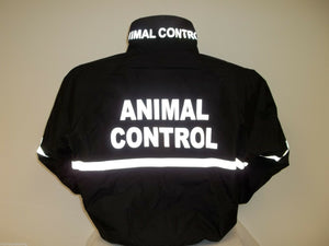 Reflective Animal Control Jacket with Striping, All Weather Jacket, SM - XXL