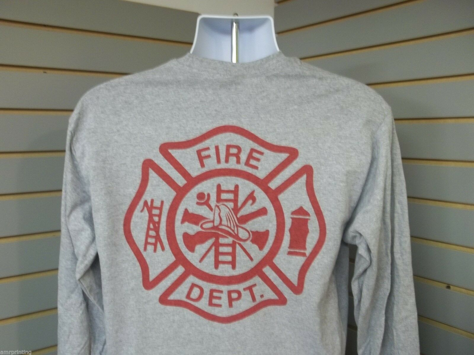 8082a66a Fire Department Maltese Cross Fire ladder hydrant Long Sleeve T-Shirt ...