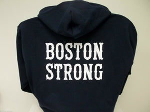 Boston Strong Full Zip Sweatshirt, Your Choice of Shirt Color and Prints, Sm-XXX