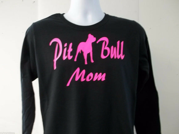 PitBull Mom Womens Long Sleeve T-Shirt