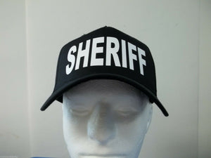 Sheriff 5-Panel Hat, Choose Your Color and Print Color, Free Shipping USA