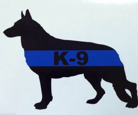 Blue Line K-9 Decal, GSD Blue Line Decal, 5