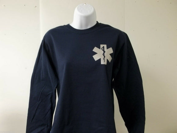 Star Of Life 3M Reflective Long Sleeve T-Shirt Your Choice of Color Free Ship US