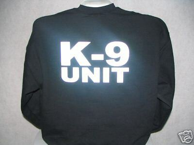 Reflective K-9 Unit Long Sleeve T-Shirt, K9 Unit, K9 LG
