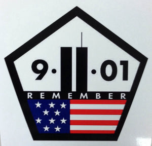9/11 Pentagon Shaped Remember 4 Inch Decal