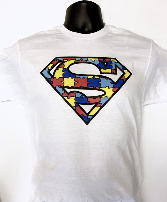 Autism Awareness Super Puzzle T-Shirt