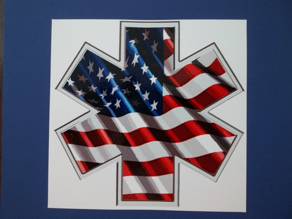 American Flag Star of Life Self Adhesive Decal