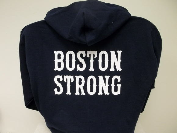 Boston Strong Custom Printed Full Zip Hoodie