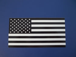 Black and White American Flag Self Adhesive Decal