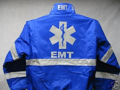Reflective Custom Printed EMT Jacket, Printed Front, Back and Collar