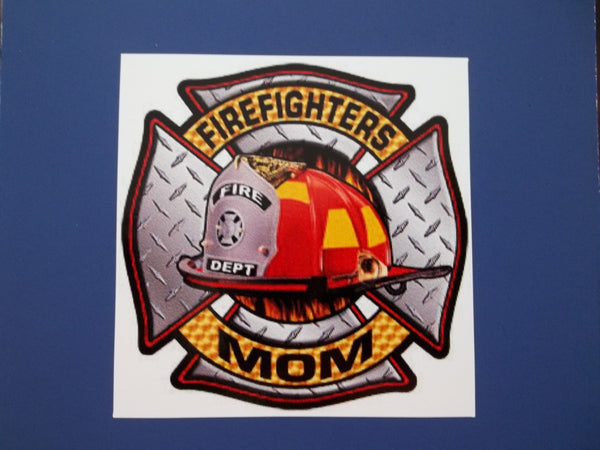 Firefighter's Mom Self Adhesive Decal
