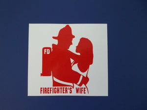 Firefighter's Wife Self Adhesive Decal