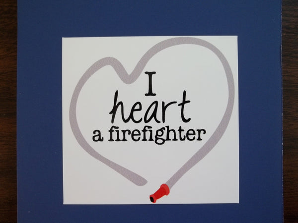 I Love a Firefighter Self Adhesive Decal