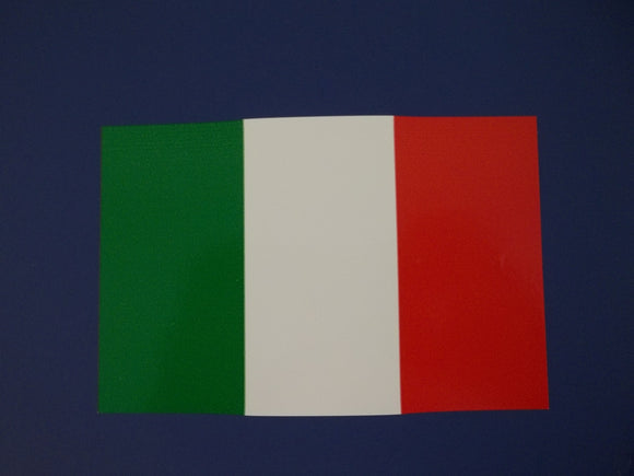 Italian Flag Self Adhesive Decal