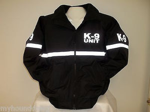 Reflective Custom Printed First Responder or 911 Dispatcher All Weather Jacket with Reflective Striping