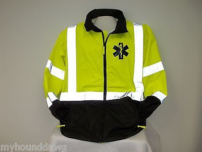 Reflective EMS, EMT Raincoat/Windbreaker, Choose Your Jacket Print