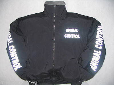Reflective Animal Control Jacket All Weather Reflective Jacket, Printed Sleeves