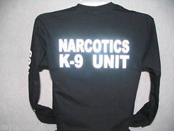 Reflective Narcotics K-9 Unit Long Sleeve T-Shirt