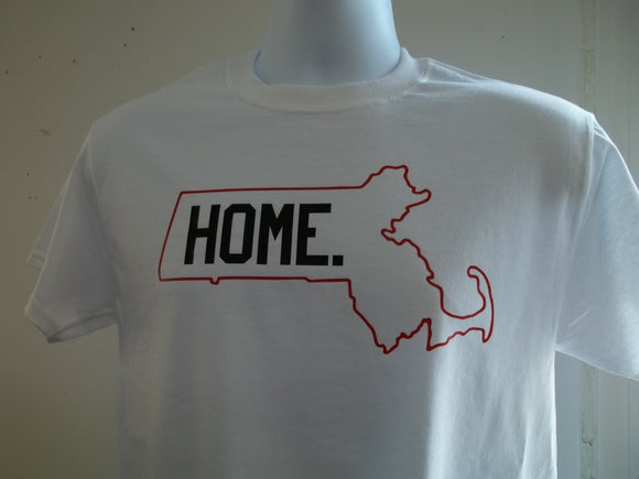 Massachusetts is my Home T-Shirt, Free Shipping in USA