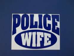 Police Wife Self Adhesive Decal