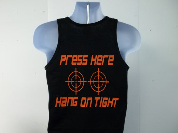 Press Here Hang On Tight Biker Motorcycle Passenger Tank Top