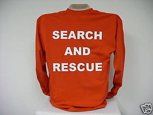 Search And Rescue Long Sleeve T-Shirt, Choose your Shirt & Print Colors