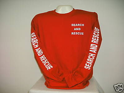 88d73178 ... Search And Rescue Long Sleeve T-Shirt, Choose your Shirt & Print Colors  ...