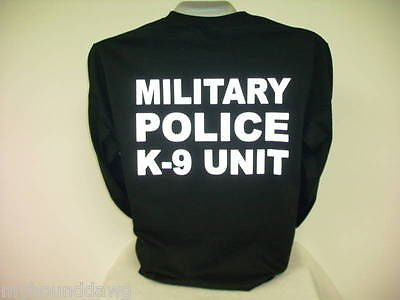 Reflective Military Police K-9 Unit, Long Sleeve T-Shirt