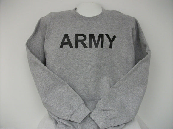 Heavy Weight PT Type Sweatshirts, ARMY, USMC, NAVY, Choose Your Prints, sm-xxl