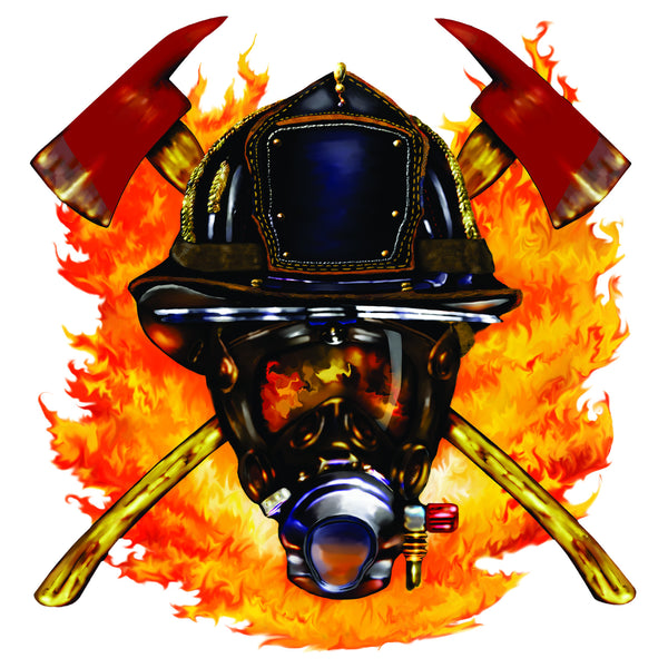 Firefighter Flaming Axes T-Shirt