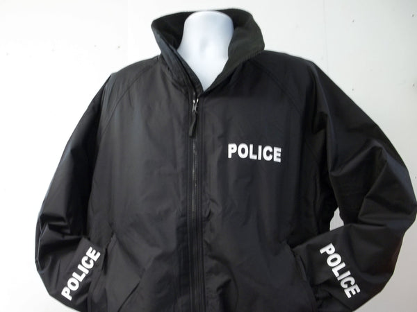 Police or Sheriff Lightweight Jacket, Black or Navy Blue, Your Choice of Print Colors, Free Shipping in USA