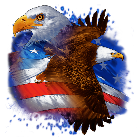 Double Eagle American Flag T-Shirt, ap80005