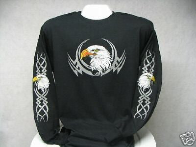 Patriotic Tribal Eagle Long Sleeve T-Shirt