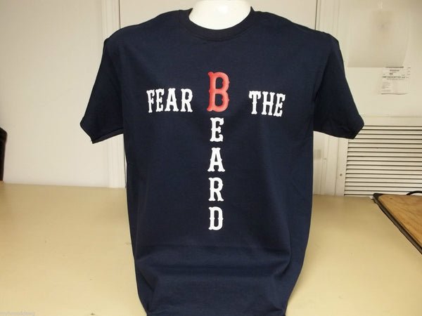 Red Sox Fear The Beard World Series Champions 2013 T-Shirt Custom Printed