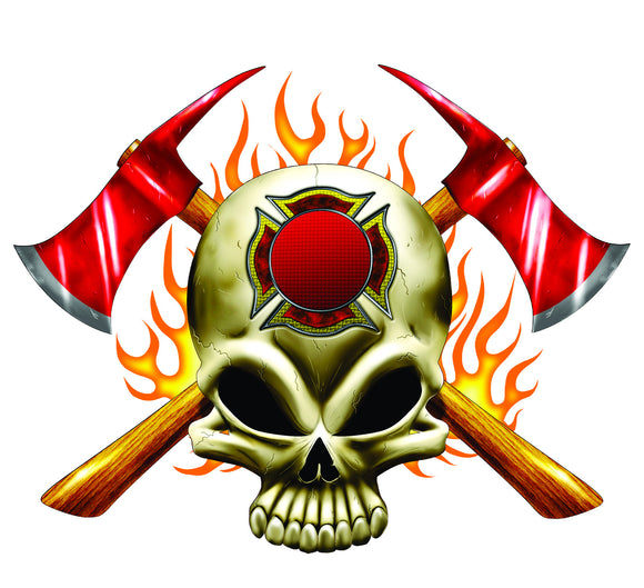 Flaming Skull and Axe T-Shirt