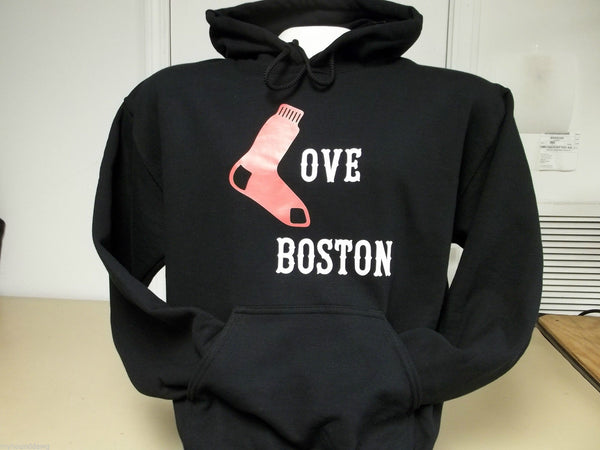 Love Boston 2013 World Series Champion Hoodie, Printed Front and Back, Choice of Hoodie Color