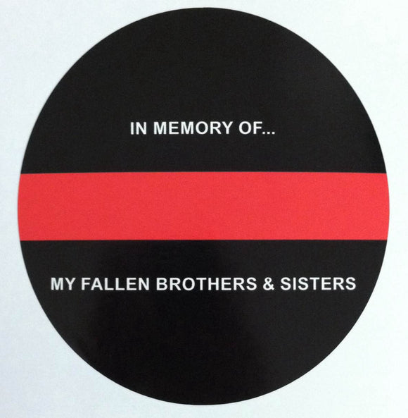 Thin Red Line In Memory of our Fallen Brothers and Sisters 5