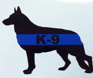 K-9 Blue Line Silhouette 5 Inch Decal