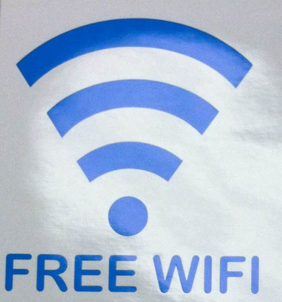 Large Window Decal - Free WiFi