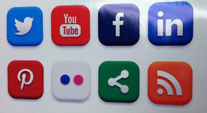 Social Media Icons Window Decal Set