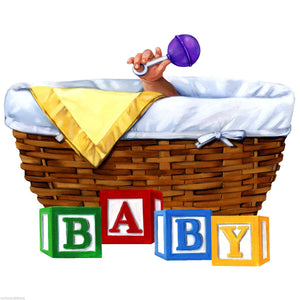 Baby Shower Basket Rattle T-Shirt, A-0182